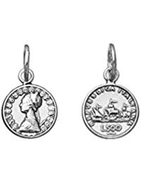 Giovanni Raspini Charm Mini 500 Lire Moneda de plata 925 ruedas 10941 Made in Italy