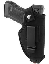 Modaka Fondina per Cintura Interna, Fondina per Pistola Nascosta, Fondina per Pistola Portatile Borsa, Adatta per S & W M & P Shield/Glock 26 27 29 30 33 42 43 / Springfield XD XDS/Ruger LC9