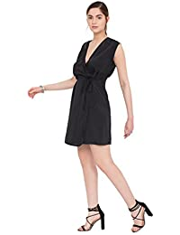 Open Back Lara Wrap Dress Black