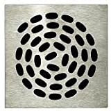 GRILLE CARREE 130X130 MM SPIRAL SIPHON SOL ROTAFLUX ROTASLIM