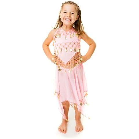 The Turkish Emporium - Travestimento Da Ballerina Di Danza Del Ventre Con Monete, Per Bambina