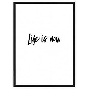 Life is now - Kunstdruck auf wunderbarem Hahnemühle Papier DIN A4 -ohne Rahmen- schwarz-weißes Bild Poster zur Dekoration im Büro / Wohnung / als Geschenk Mitbringsel zum Geburtstag etc.