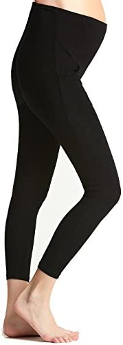 Liang Rou Maternity Belly Support Mini-Ribbed Stretch Full Length Leggings