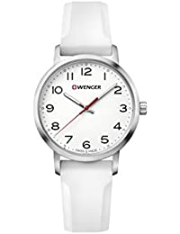 Wenger 01.1621.106 Women's Avenue White Dial White Silicone Strap Watch