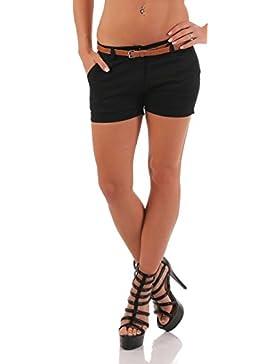 malito Hot Pant classico Disegno Chino Pantaloncini 5397 Donna