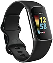 Fitbit Charge 5 Activity Tracker with 6-months Premium Membership Included, up to 7 days battery life, Graphit