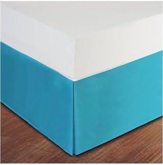 Dreamz Parure de lit Super Doux Coton égyptien 250 250 250 Fils Finition élégante 1PC en pli Creux Jupe de lit (Drop Longueur: 76,2 cm) UK King, Bleu Turquoise/Bleu Sarcelle Solide 37bcd4