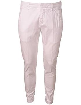 DONDUP Pantalone Gaubert Bianco Uomo Elasticizzati Tasca Diagonale 4 Tasche UP235AS040UPTODU000
