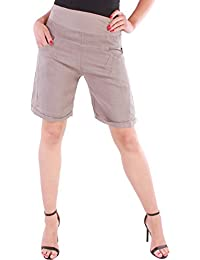 3220f76420b86d Black Denim BD Damen Hose Leinenhose Aladin Pump Kurze Hose100% Leinen  Sommerhose bis Übergröße