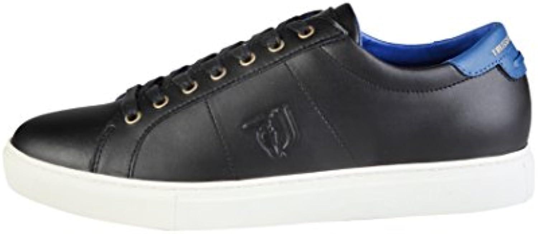 TRUSSARDI JEANS Scarpe Unisex scarpe da ginnastica Pelle Nera Nera Nera Fondo Cassetta 17TJ01 | La qualità prima  d57b22