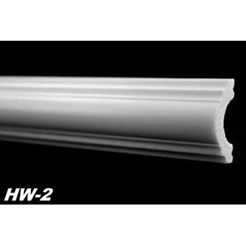 2 Meter Innendekor Wandleiste Flachprofil Profil Dekor stoßfest 20x40mm, HW-2