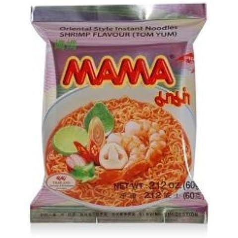 Mama piccante zuppa di gamberi spaghetti istantanei sapore. 60 G. X 10 pezzi.
