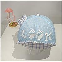 FOUGNOGKISSS Lattice Ear Baby Mesh Cap Gorro de protección para niños pequeños Gorra de béisbol para 1-3 años (Azul) (Color : Azul, tamaño : 48-50cm)