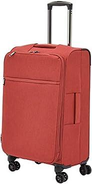 AmazonBasics - Belltown Wattierter Weichschalen-Rollkoffer - 68 cm, Rot