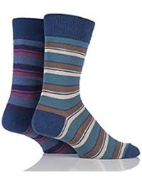 Herren 2 Paar HJ Halle-Generation V Cotton Boscastle Gestreifte Socken