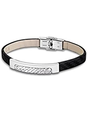 LOTUS Style Herren Armband Men in Black-Kollektion Edelstahl schwarz silber JLS1654-2-1