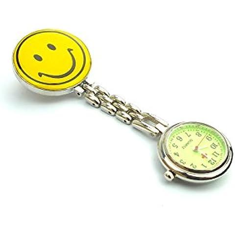 Smiley Face-Orologio in acciaio INOX, con quadrante
