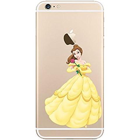 Nueva princesas Disney TPU transparente suave para Apple Iphone 4/4S 5/5S 5C 6/6S y 6+/6+ S * Comprobar oferta especial *, plástico, cuadros Belle, Apple iPhone