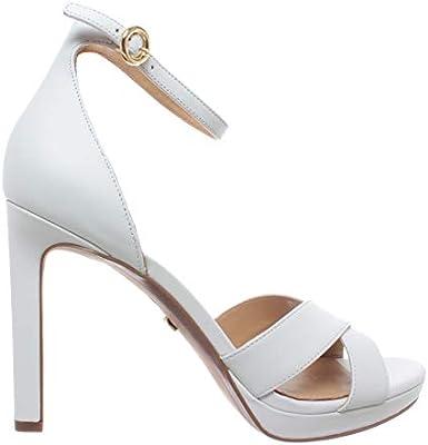Sandalias Zapato Mujeres Tacon MICHAEL KORS Alexia Sandal Leather Optic White