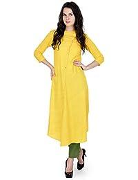 FAHD KHATRI Women's YELLOW/GREEN Dress