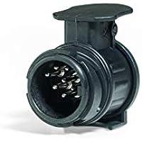 Westfalia Adapter 13- auf 7-polig | für die Verbindung eines PKW bzw. einer Anhängerkupplung mit 13-poligem Stecker auf einen Anhänger mit 7-poligem Stecker