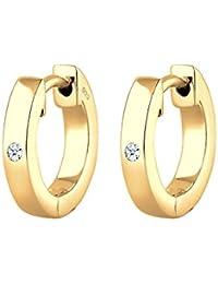 Diamore Damen-Creole Diamant