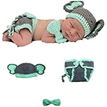 recién nacido Baby Girl/Boy Crochet Knit Costume Foto Fotografía Prop sombreros trajes