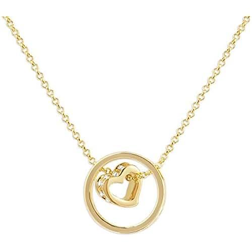 ofertas para el dia de la madre Fashionvictime - Mujer Colgante - Eclats Diamant - Chapado En Oro - Cristal - Joyeria -