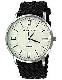 Reloj Bilyfer para Mujer con Correa Negra y Pantalla en Blanco 2W434B-N