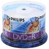 250 Philips 16X DVD-R 4.7GB Cake Box (Philips Logo On Top)