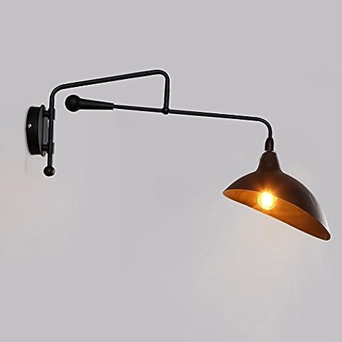 Adelaide - lámpara de pared creativa de la vendimia Salón de estar americano vestíbulo del pasillo lámpara de pared industrial del hierro del viento lámpara lámpara de pared del café de la