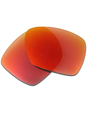Hkuco Plus Mens Replacement Lenses For Oakley Deviation Sunglasses Red Polarized