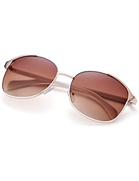 Ilove EU Mujer Moda gafas de sol polarizadas gato ojos Metal marco Aviator Gafas Gafas de protección Gafas de...