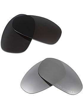 Hkuco Plus Mens Replacement Lenses For Oakley Juliet Sunglasses Black/Titanium Polarized