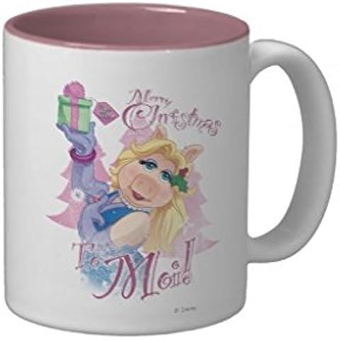 Feliz Navidad Endingfo linda de la historieta Two-Tone taza de café