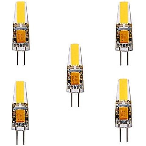 4W G4 Luci LED Bi-pin MR11 4 COB 460 lm Bianco caldo / Luce fredda Decorativo / Impermeabile DC 12 / AC 12 / AC 24 / DC 24 V 5 pezzi ( Colore della luce : Bianco caldo , Tensione : AC12V )