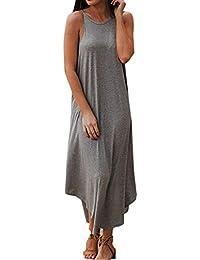 180895cfaee Amazon.fr   Robe Hawaienne - Gris   Robes   Femme   Vêtements