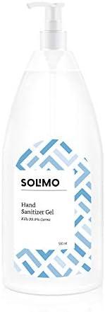 Amazon Brand - Solimo Hand Sanitizer Gel (72% Ethanol Absolute) - 500 ml