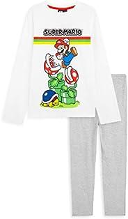 Super Mario - Pigiama per bambini e ragazzi, età 3 – 14 anni, set pigiama in cotone, regalo per giocatori