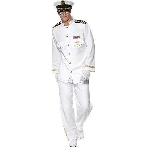 Smiffy's - Disfraz de capitán para hombre, talla M (33690M)