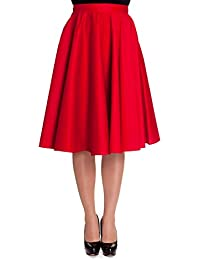 Hell Bunny 50's Paula Rockabilly Jive Skirt Red