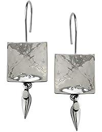 Ahilya Zen Collection Silver Drop Earrings for Women (AER18439-00SNAT)