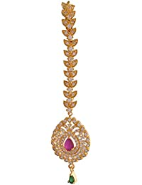 Ganapathy Gems 1Gram Gold Plated Mangtika With Cz Stones (8410) 8410