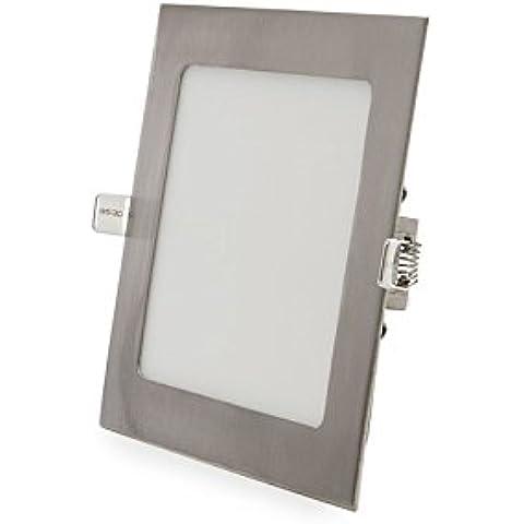 Placa de LEDs Cuadrada 170x170mm 12W 860Lm 50.000H Niquel Satinado