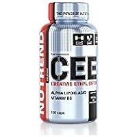 Nutrend CEE Creatina Ethyl Ester 120 Caps resistencia y fuerza-velocidad deportes, ácido alfa