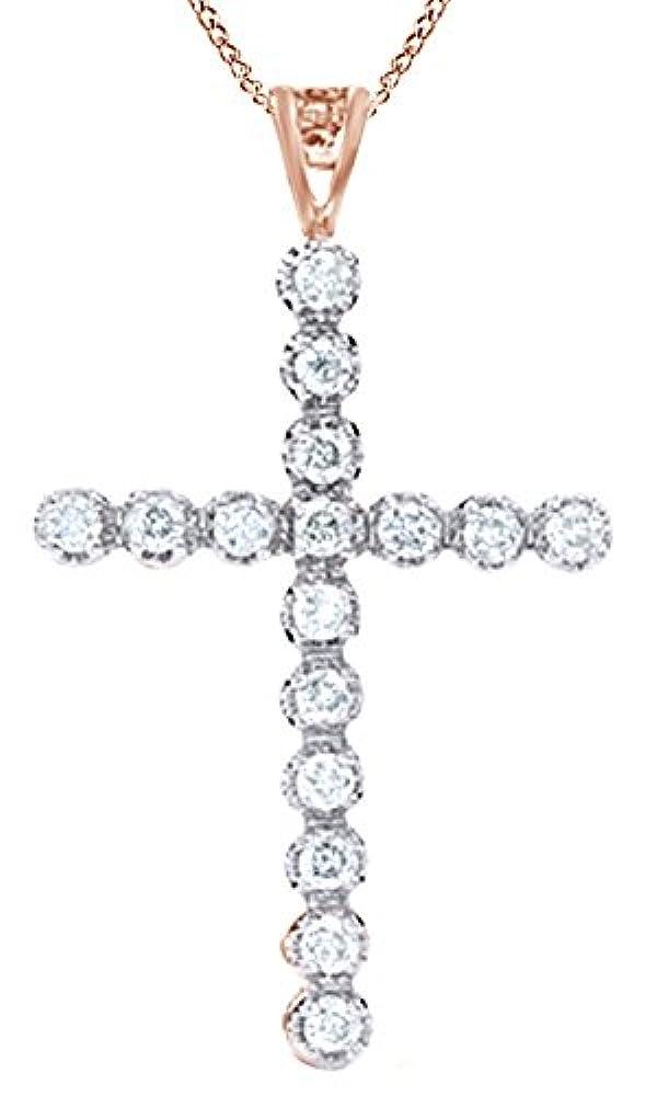 AFFY Gold 9 Karat (375) 10-Karat-Rotgold Rund I-J Leicht Getöntes Weiß/Crystal (J) Diamant