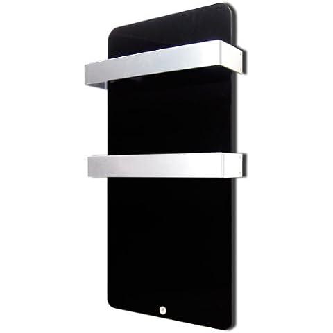 Haverland XTAL6N - Seca-toallas de cristal, termostato digital, 600 W, color negro