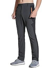 BMEIG Pantaloni da Trekking Uomo Leggero - Lunghi Pantaloni Vita  Elasticizzata Asciugatura Rapida per Outdoor Campeggio fcf0d5397fa