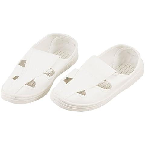 Lady blanco buytra suela anti-estático alicates de precisión para trabajo sala limpia zapatos US 9