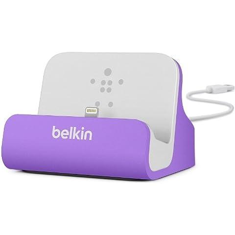 Belkin MiXIT - Base dock de carga y sincronización para iPhone 5/5S/5C/6/6+/6S/6S+ y iPod Touch 5G, color purpura